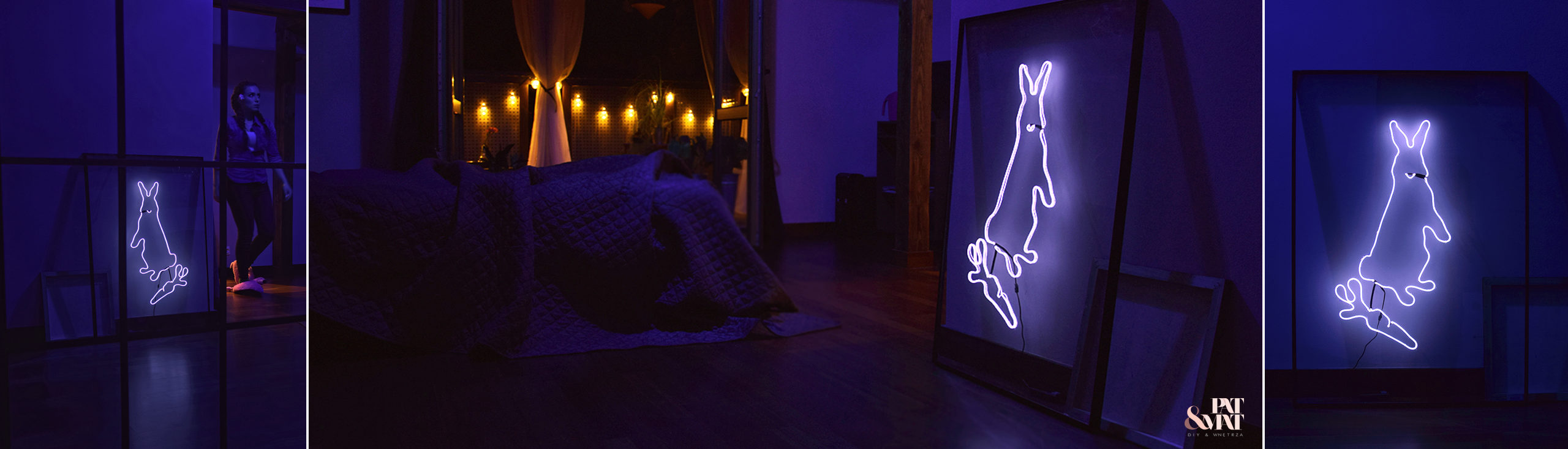 DIY Neon Bunny – Neon Królik w metalowej ramie. Zrób to sam