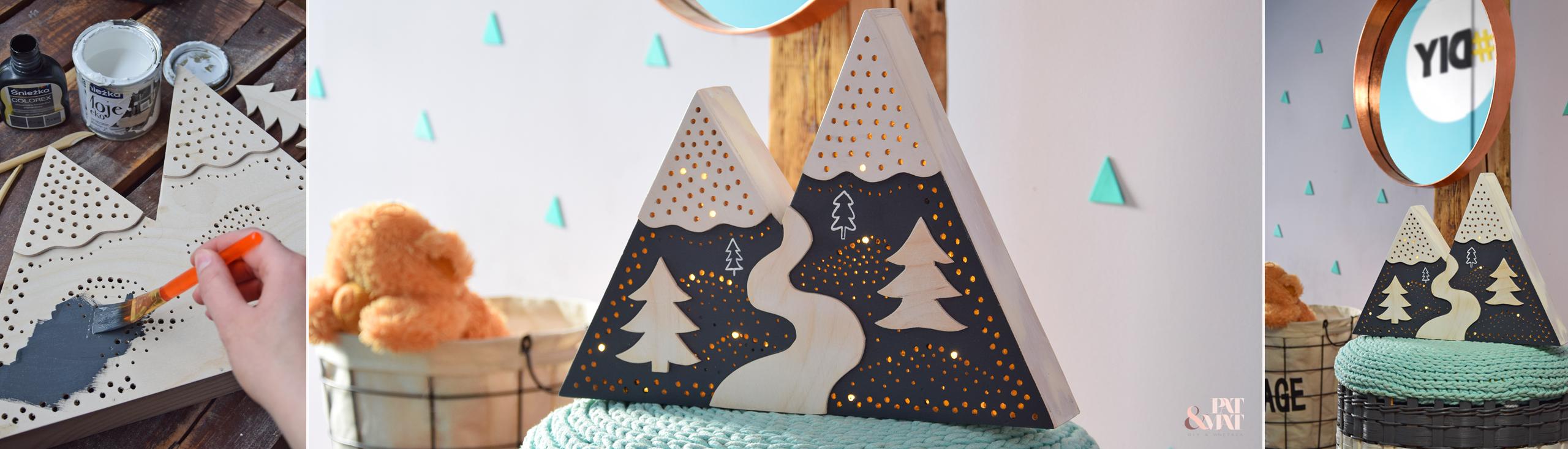 DIY: Dziecięca lampka Mountains
