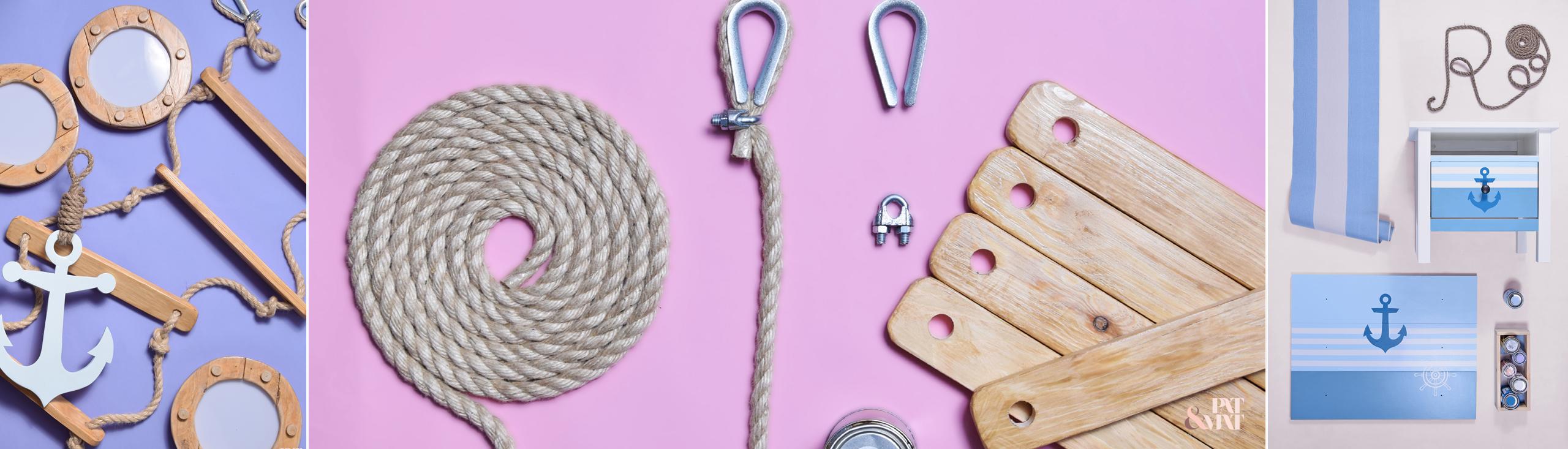 DIY: Dekoracje marynarskie do pokoju dziecięcego
