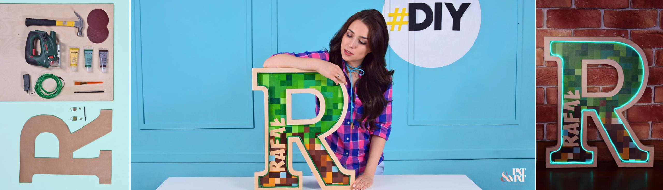 DIY: Świecąca literka w stylu Minecraft
