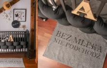 DIY: Dywanik z własnym napisem. Kącik niemowlęcy